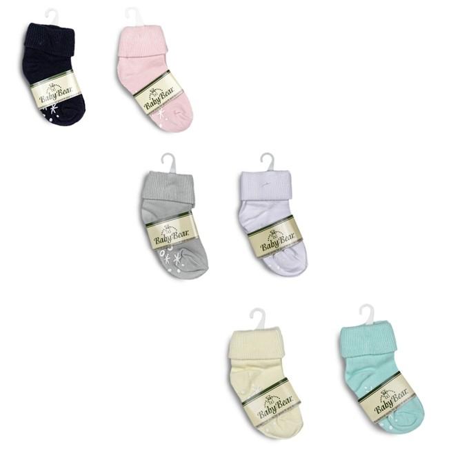 Baby Bear Infant Solid Colour Socks
