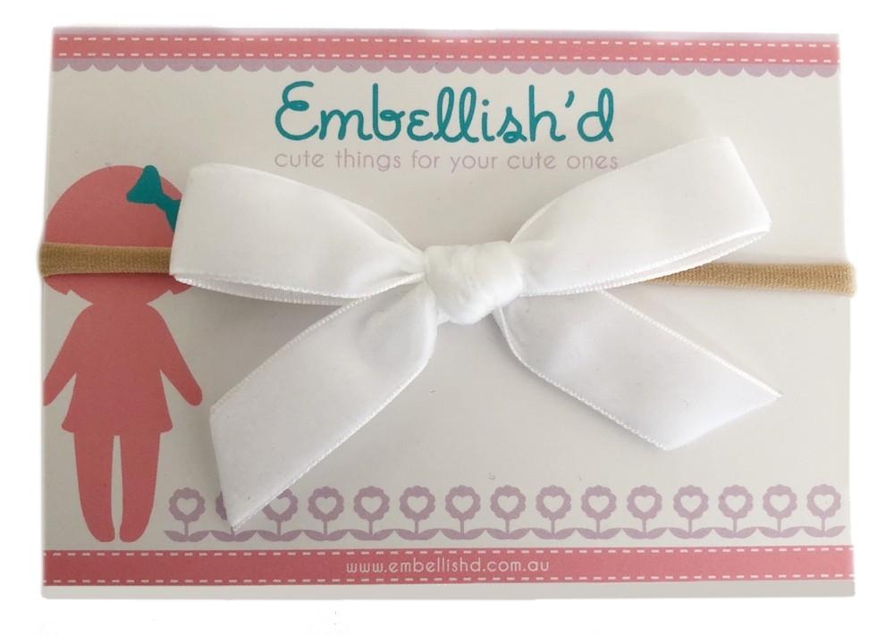 EM Velvet Bow Headband EM3314