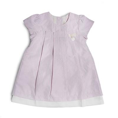 T&T Infant Girls Pink Woven Short Sleeve Dress 810117-311
