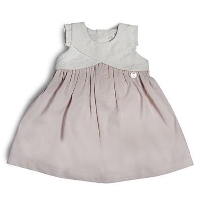 T&T Infant Girl Pink Woven Short Sleeve Dress 810123-312