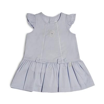 T&T Infant Girls Blue Woven Sleeveless Dress 810123-313