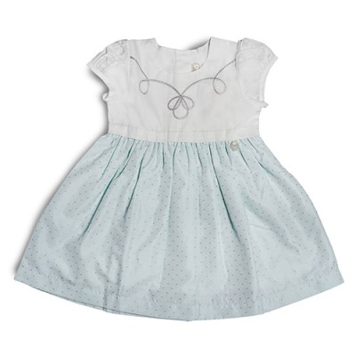 T&T Toddler Girl Blue Woven Sleeveless Dress 815168-311