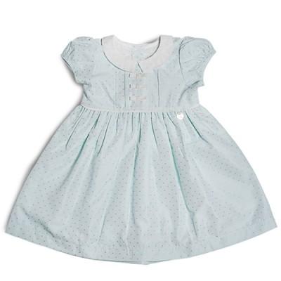 T&T Toddler Girl Blue Woven Sleeveless Dress 815168-312