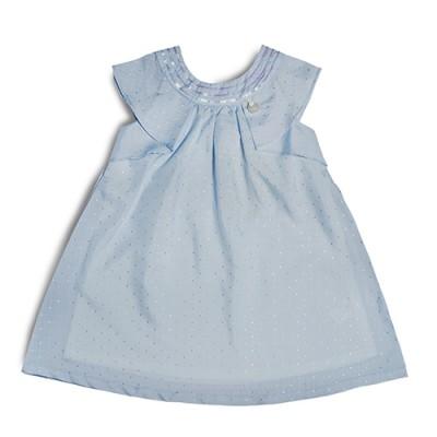 T&T Toddler Girl Blue Sleeveless Dress 815174-312