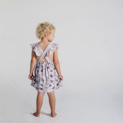 Aster & Oak Summer Collection Butterfly Cross Back Dress