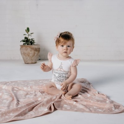 Aster & Oak Summer Collection Carousel Flutter Onesie