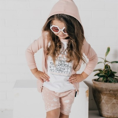 Aster & Oak Summer Collection Peach Hooded Lightweight Cardigan