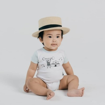 Aster & Oak Summer Collection Strongman Raglan Onesie