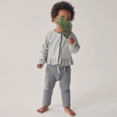 Baby Mori Ink Stripe Knitted Jogger
