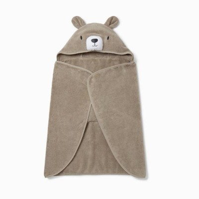 Baby Mori Bear Hooded Toddler Towel