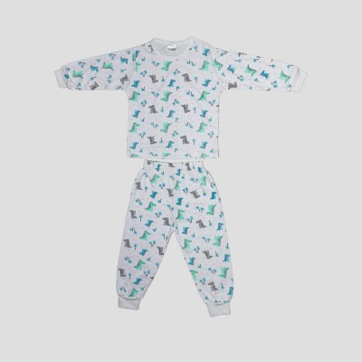 Chilli Padi Pastel Dinosaur 2pc Set (7-10yo)