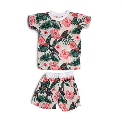 Seasonal Toddler Boy 2-pc Short Sleeve Flamingo Set