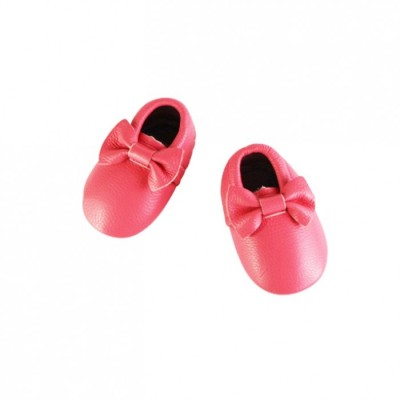 Little Leather Bow Moccasins