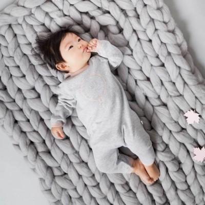 Baby Mori Knitted Romper BM12001