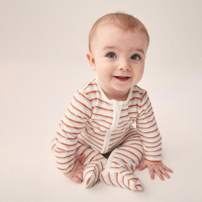Baby Mori Reef Zip-Up Sleepsuit