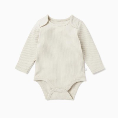 Baby Mori Ribbed Long Sleeve Bodysuit